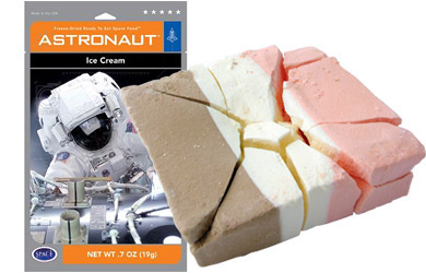 Space ice-cream (can be bought on Amazon)