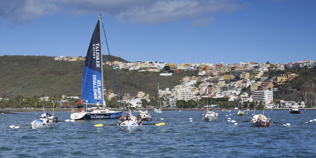 Teams prepare to start the Talisker Whisky Atlantic Challenge in San Sebastian de La Gomera